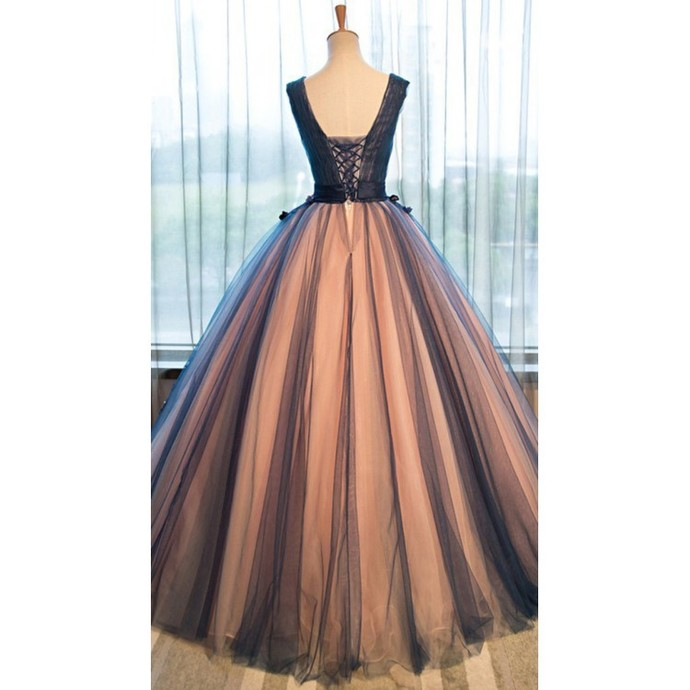 Gown Prom Dresses, Brown Ball Gown Evening Dresses, Gown Long Evening Dresses,