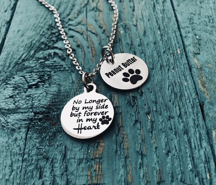 No longer by my side but forever in my heart, Pet remembrance, Pet Memorial,