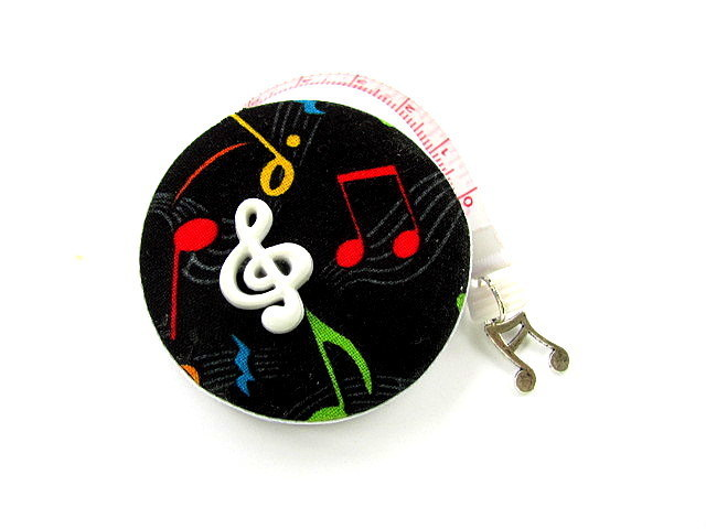 Measuring Tape I Love Music Retractable Tape Measure
