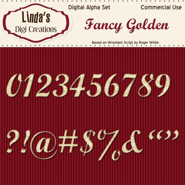 Fancy Golden Digital Alpha Set
