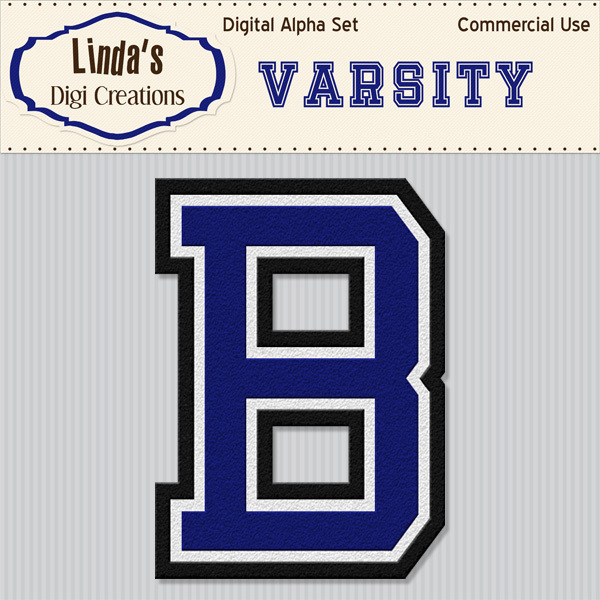 Varsity Digital Alpha Set_Blue
