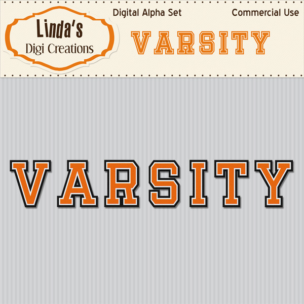 Varsity Digital Alpha Set_Orange