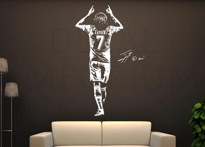 Edinson Cavani Uruguay Paris Saint-Germain PSG Soccer Football Wall Decal Boy