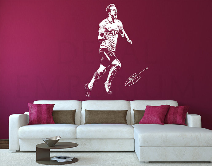 Harry Kane England Tottenham Hotspur Soccer Football Wall Decal Boy Girl Room
