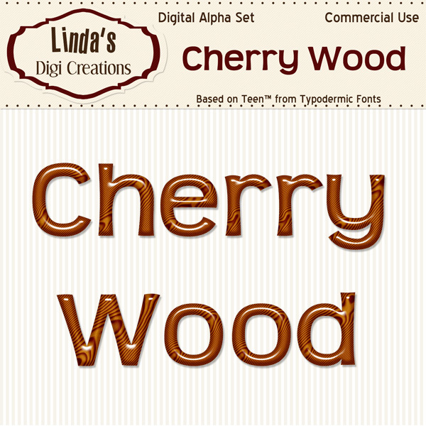 Cherry Wood Alpha Set
