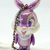 Japan Import Disney Iridescent Jointed Bambi Miss Bunny Cell Phone / Bag Charm