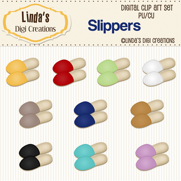 Slippers (ClipArt Set)