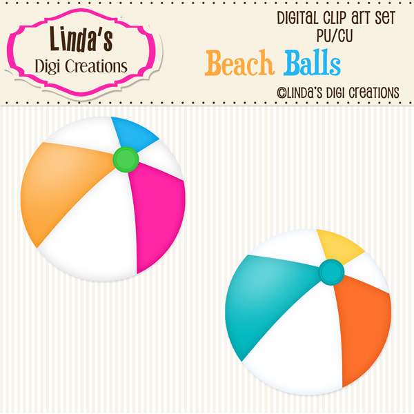 Beach Balls (ClipArt Set)
