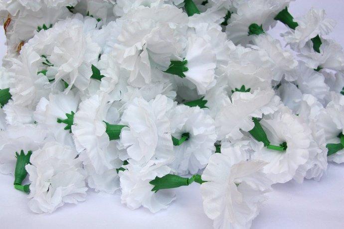 White Marigold Garlands, Flower Garland, Wedding by CatFluff on Zibbet