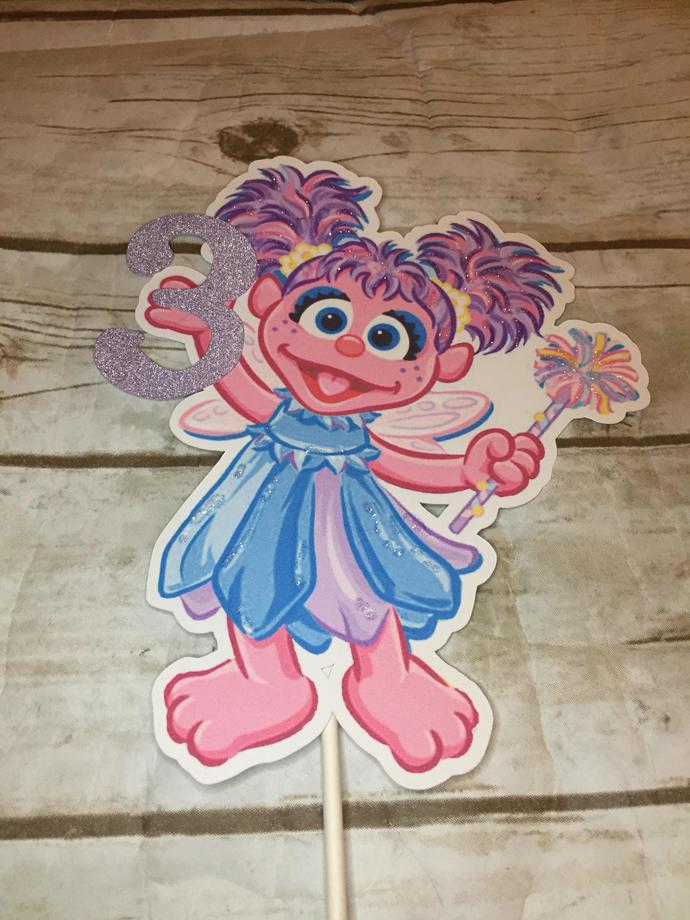 Abby Cadabby Sesame Street Birthday Party Cake Topper/Party Decor