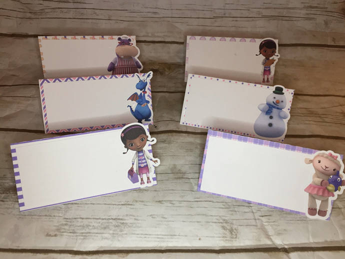 Doc McStuffins Placecards/Food Cards Party Decor/Birthday Party/Tent Cards