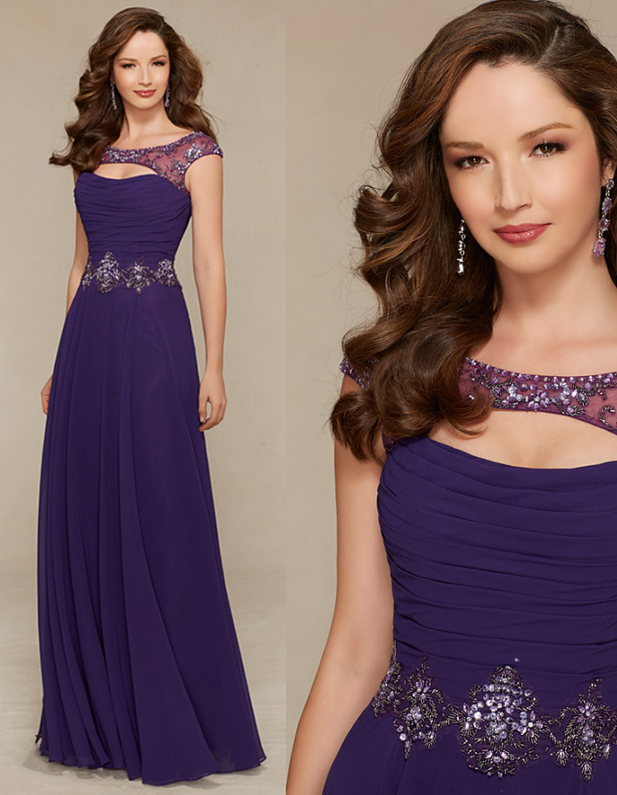 Custom Made Evening Gown,Purple Evening by prom dresses on Zibbet
