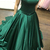 Strapless Emerald Green Prom Dress,Prom Dresses, Formal Prom Gown,evening