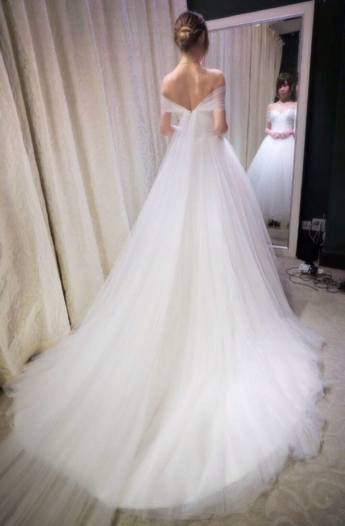 Charming White Tulle Wedding Dress, Sexy Bridal Dresses