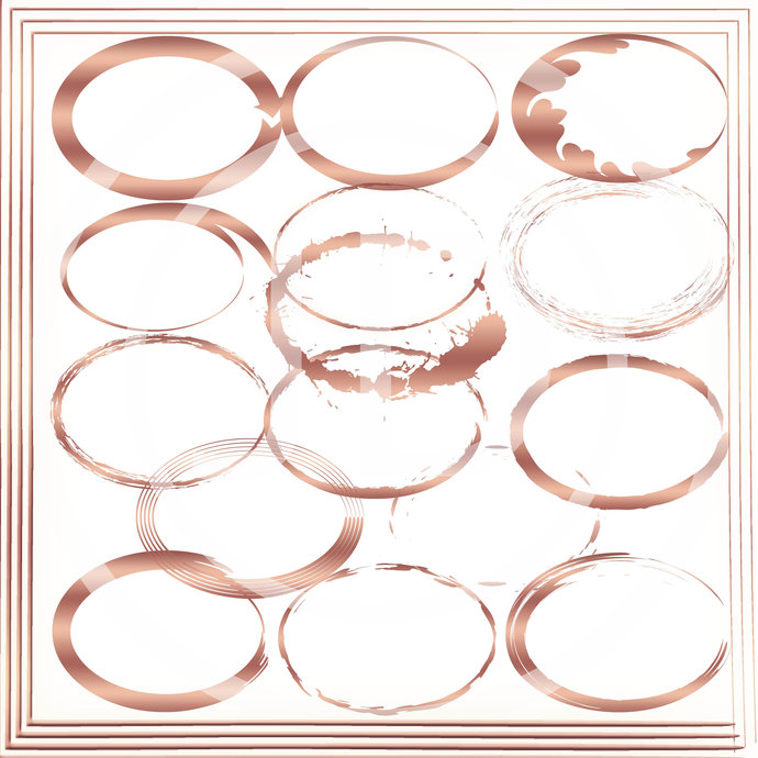 Rose Gold Oval Frame Clipart Circles Clip Art
