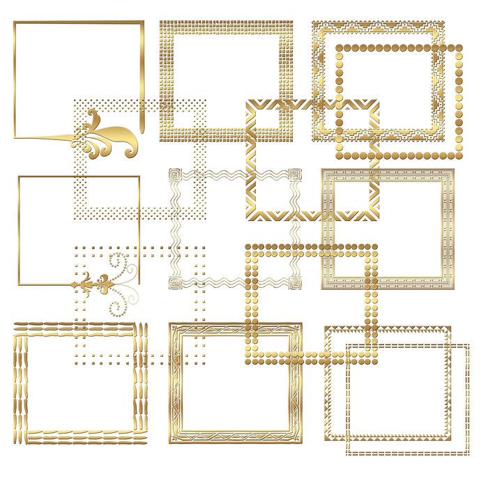 Digital gold frame clipart Gold border by JulieDigitalArt on Zibbet