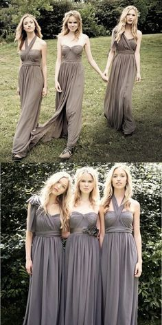 Bridesmaid Dresses For Fall Wedding Elegant Grey Rustic