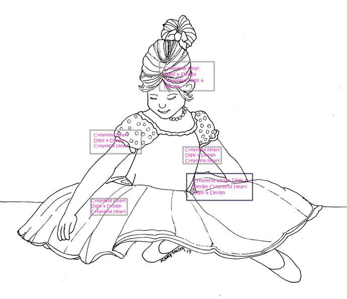 Princess Annabelle -  Image, stamp