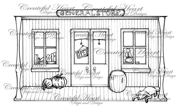 The General Store - digital stamp