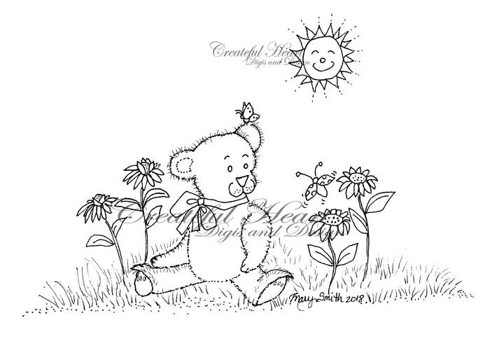 Friendship Bear  Digital Stamp