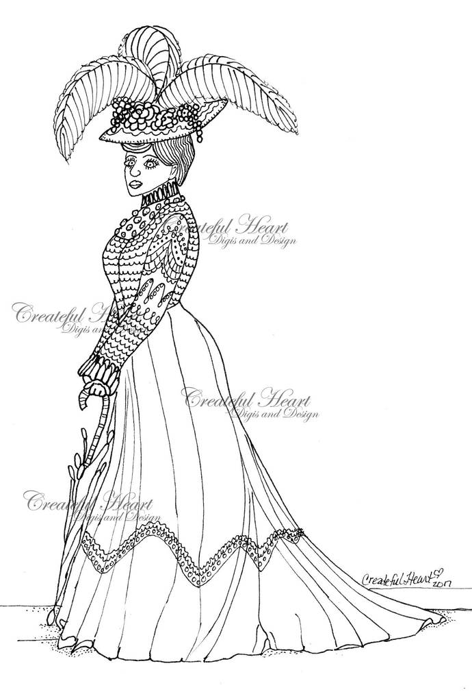 Lady Beatrice,  Digital Stamp