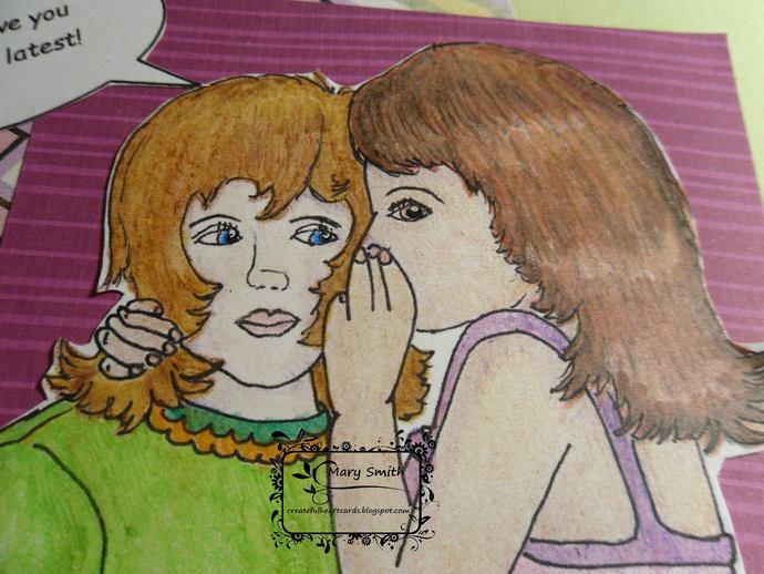 Girls Sharing a Secret - digital image