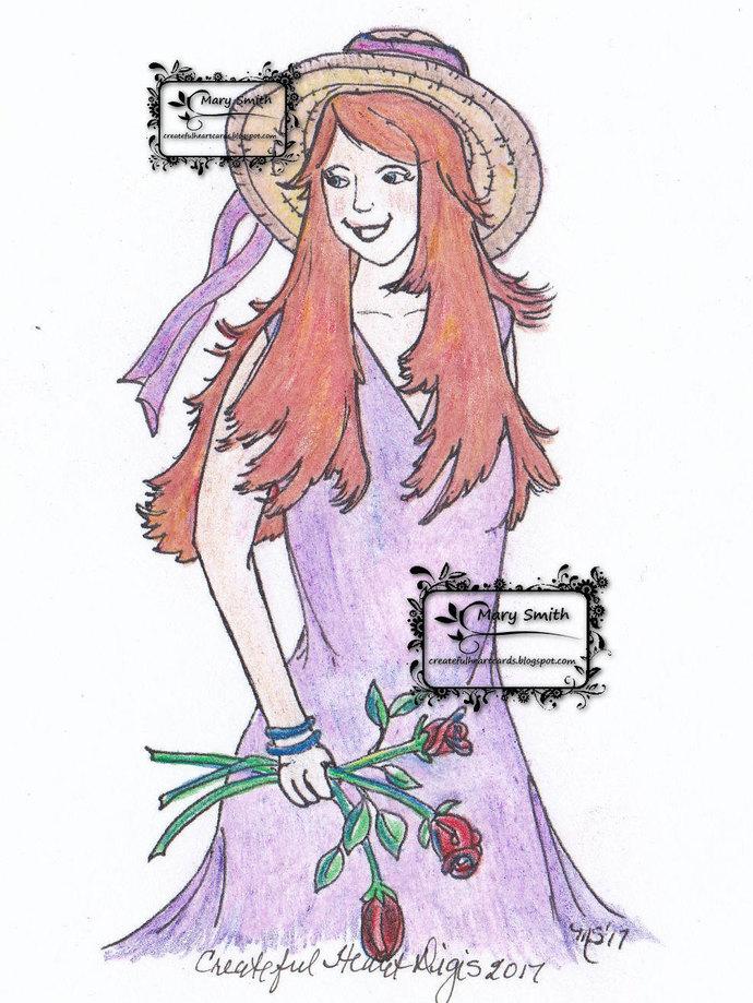 Aubriella Holding Roses