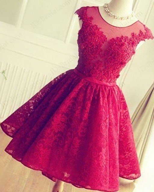 Lace Homecoming Dress Short Prom Dresses Wedding Reception Dress