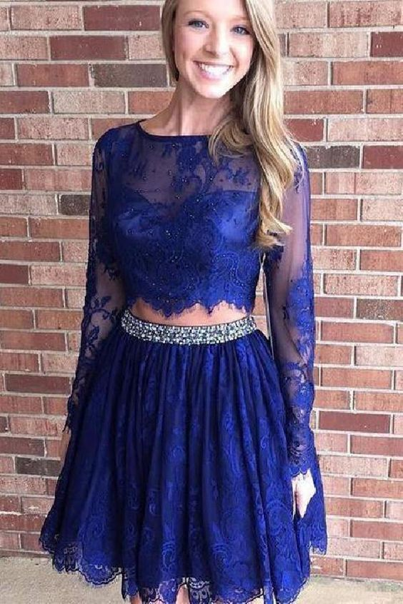 e3b5edae26a Dark blue homecoming dress