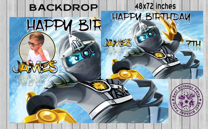 Ninjago BACKDROP, Ninjago Banner, Ninjago Birthday Banner, Boy Ninjago Birthday