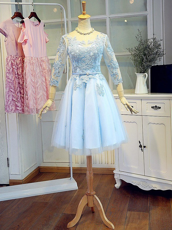 Homecoming Dresses with Long Sleeves, Formal Dresses, Graduation Party Dresses,