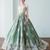 Strapless A-Line Prom Dress,Sleeveless Long Evening Dress,Ball Gown