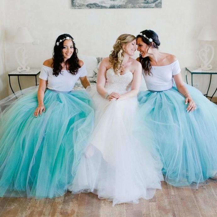 093b90c467 Fashion Long Teal Adult Tutu Skirt Floor Length Bridesmaid Dress