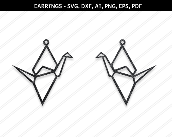 Crane Earrings svg,Bird earrings svg,Jewelry svg,leather