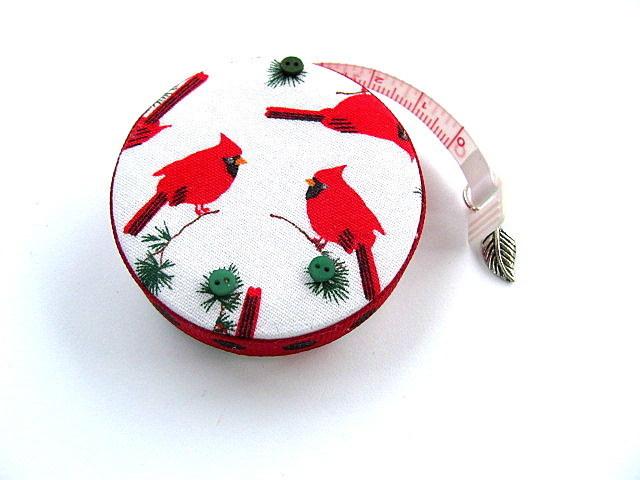 Tape Measure Cardinals Birds Retractable Measuring Tape