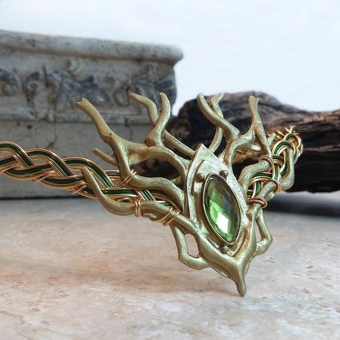 Woodland Stag Circlet Crown ~ Thranduil Elven Wedding Headpiece ~ Green Man LOTR