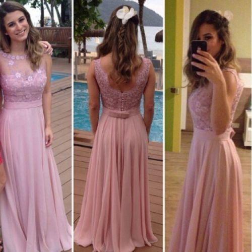 Charming Prom Dress,Sleeveless Appliques Chiffon Evening Dress,Sexy Prom