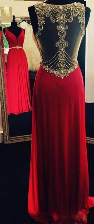 Charming Prom Dress,Sleeveless Appliques Chiffon Evening Dress,Sexy Prom
