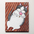 Fat Cat With Strawberry Ice Cream Original Cat Folk Art Painting