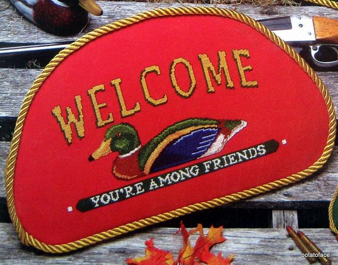 Sportsman's Lodge Signs  Cross Stitch Pattern