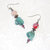 Dangle Earrings beaded with Chunky Multicolored Mixed Beads