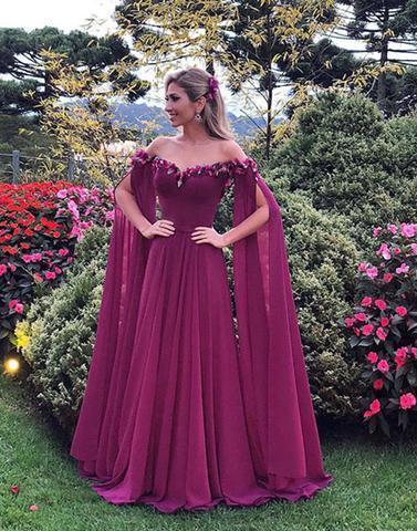 Off the Shoulder Queen Evening Dress