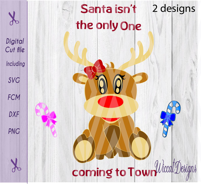 0235ff345 Girl Reindeer svg, Baby girl svg, pregnant by Wiccatdesigns on Zibbet