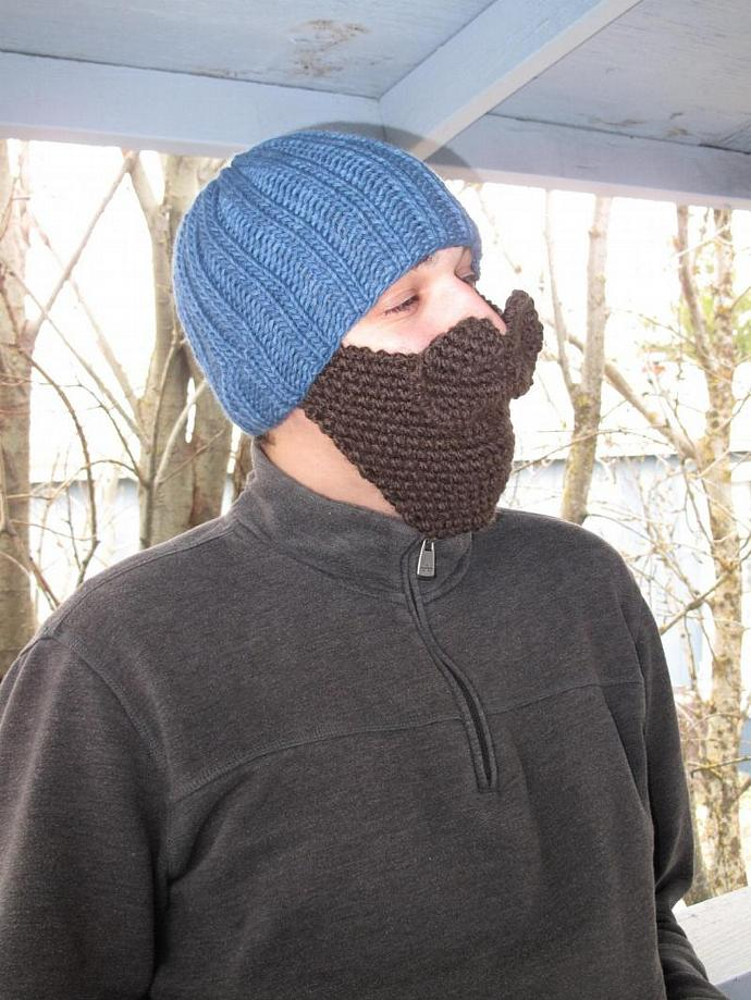 Knitting Pattern Only Hat With Beard And Knitcookies