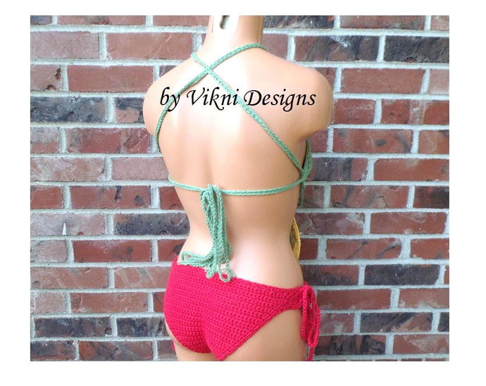Dream Catcher Crochet High Neck Top, Gypsy Hippie Festival Crochet Top by Vikni
