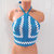 Vintage 70's Crochet Halter Top by Vikni Designs