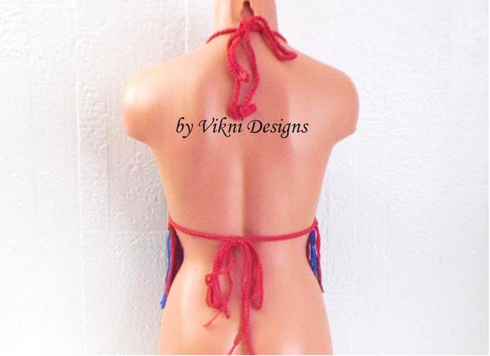 Haiti Crochet Top, Crochet Fringe Top by Vikni Designs