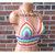 Crochet Rainbow Top, Pastel Rainbow Runway Crop Top by Vikni Designs