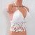 Festival Gypsy Outfit, Off White Crochet V-Neck Tiny Flower by Vikni Designs
