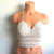 Vikni Crochet Natural Beige Halter Top, Crochet Crop Top